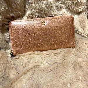 Kate spade rose gold mavis street neda wallet